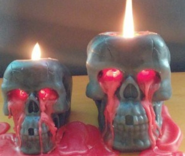 Bleeding Candle Skull Head Candle Halloween Candle Scary Candles