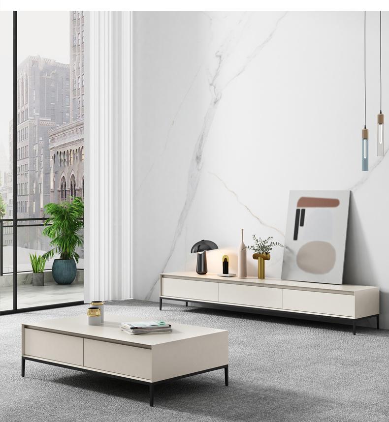 hot item italian minimalist tea table tv cabinet combination nordic living room bedroom tv cabinet modern and simple tv stand