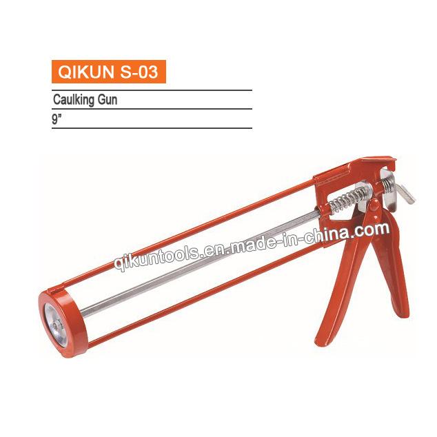 China S 03 Double Cartridges Skeleton Caulking Gun China Caulking Gun Silicone Gun
