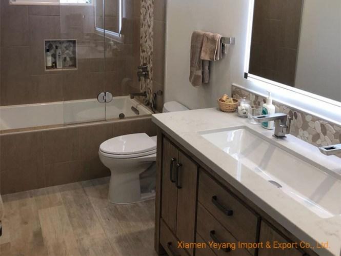 White Quartz Vanity Tops For Bathroom