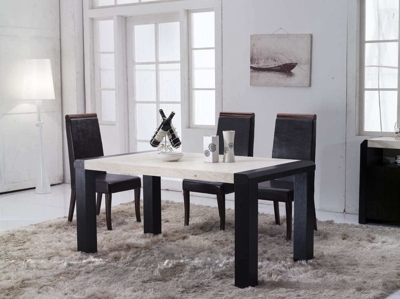 Design Contemporary Ideas Marble Top Dining Table