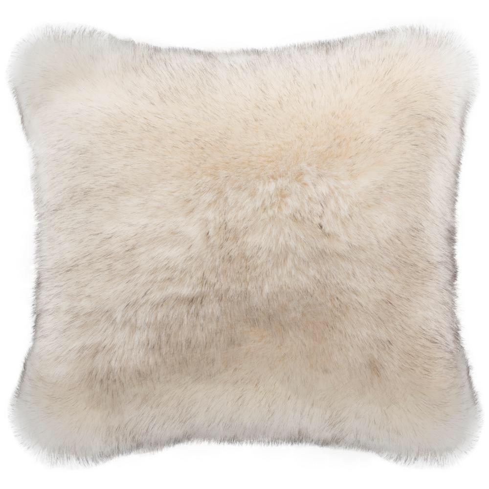 hot item hot sale colorful mongolian faux long fur soft fluffy pillows