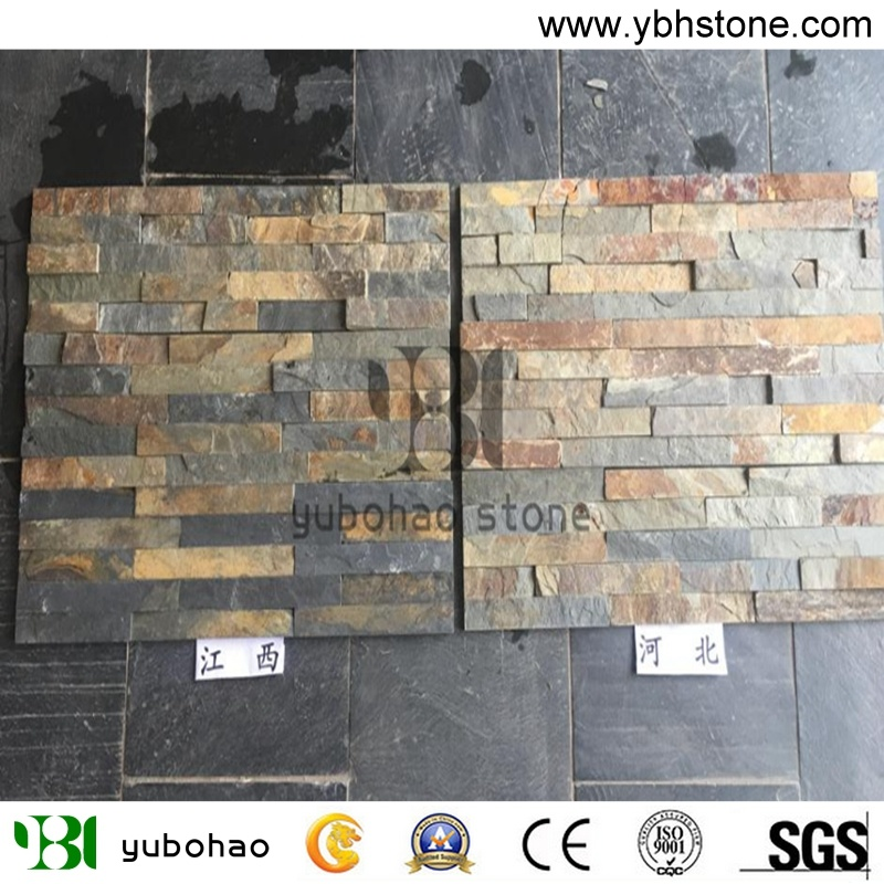 hot item rusty slate stone veneer for wall cladding floor tile