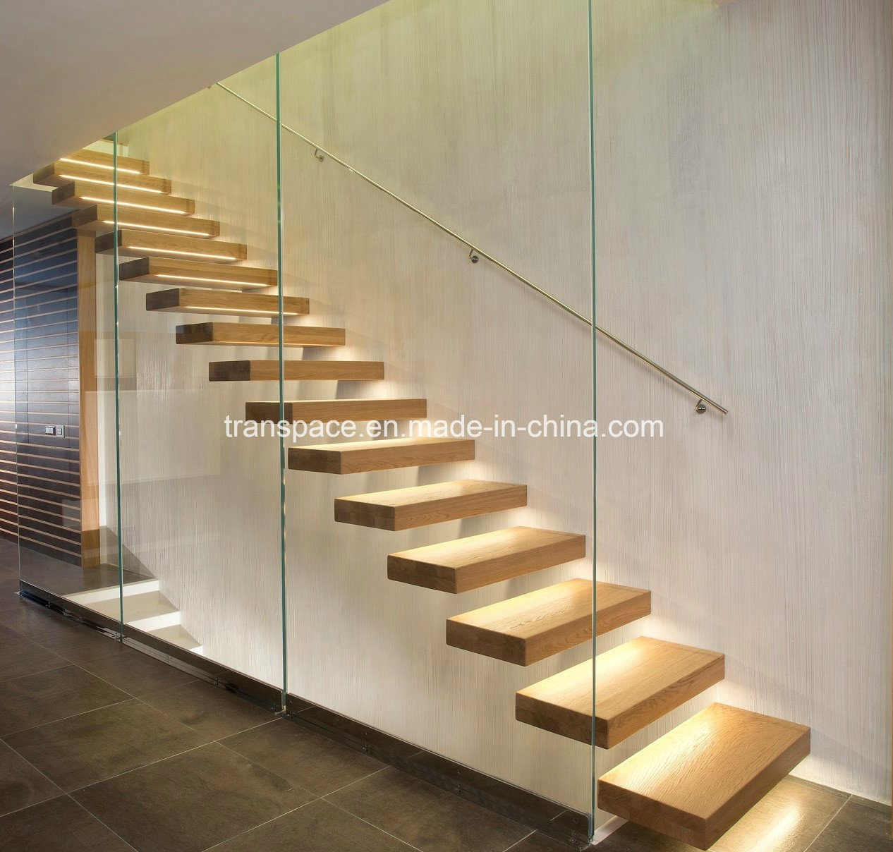 China Simple Floating Interior Wood Stairs Design Home Stairs | New Home Stairs Design | Beautiful | Entrance | Iron | Stairway | Wall