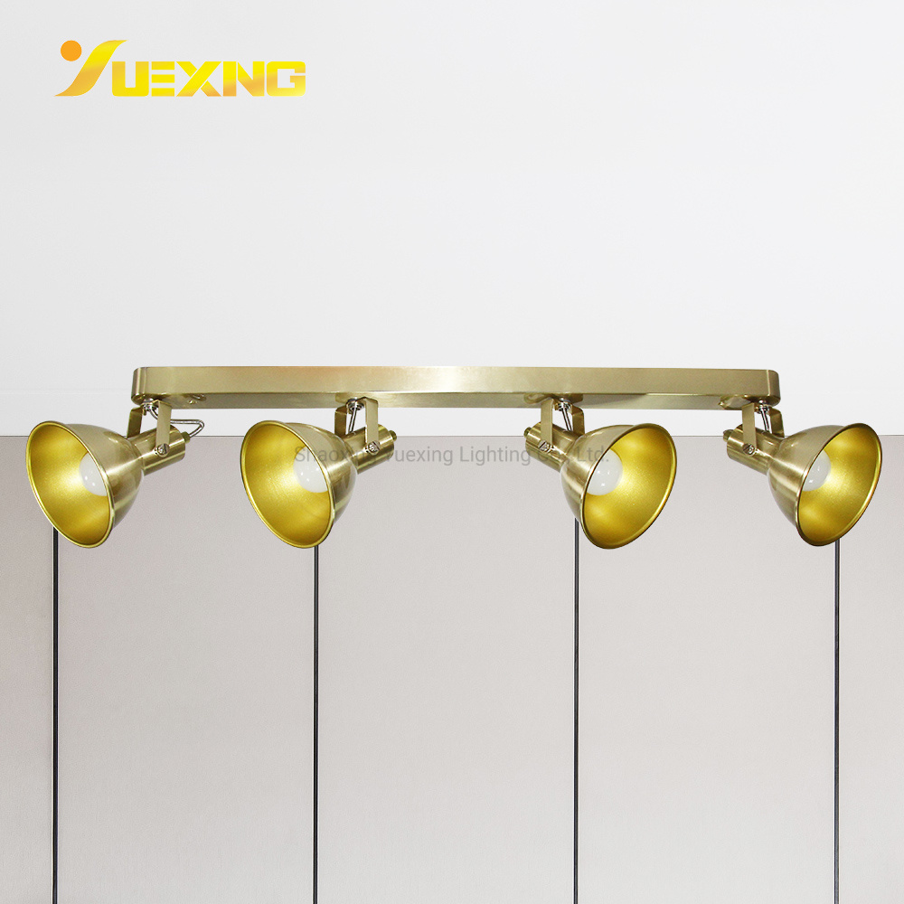 hot item led e14 4 light track lighting golden spot wall ceiling mounted light fixture kitchen and dining room