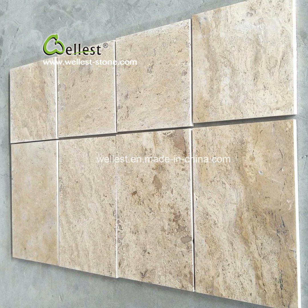 china beige travertine paving tile