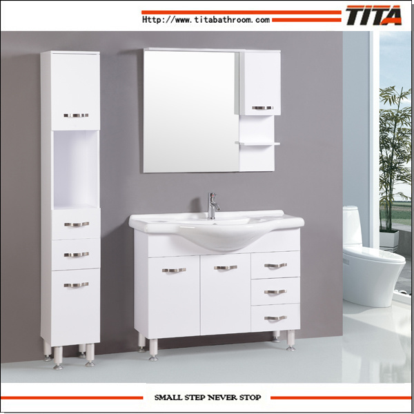 Awesome White High Gloss Bathroom Cabinet Contemporary - Home ...