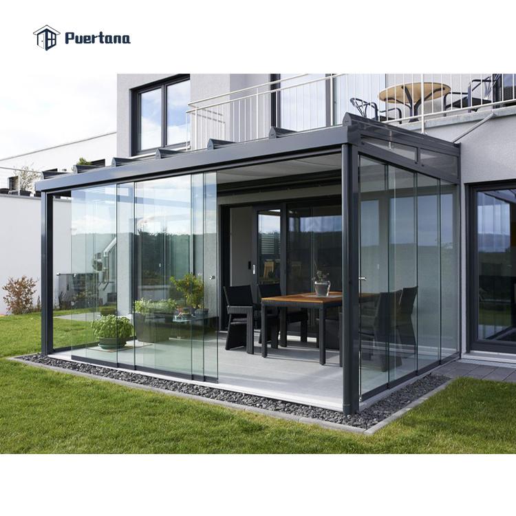 hot item outdoor lowes prefabricated aluminium frame patio glass garden room enclosure sunroom conservatory