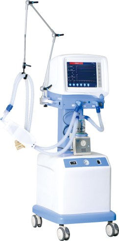 China S1100 Breathing Ventilator Machine with Flow Sensor for ...
