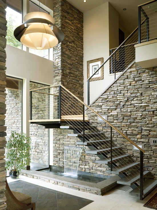 China Modern Indoor House Used Stainless Steel Stair With Solid | Modern Stairs Design Indoor | Contemporary | Concrete | Beautiful Modern | Fancy | Interior