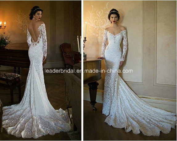 China Off-Shoulder Bridal Gowns Lace Backless Berta