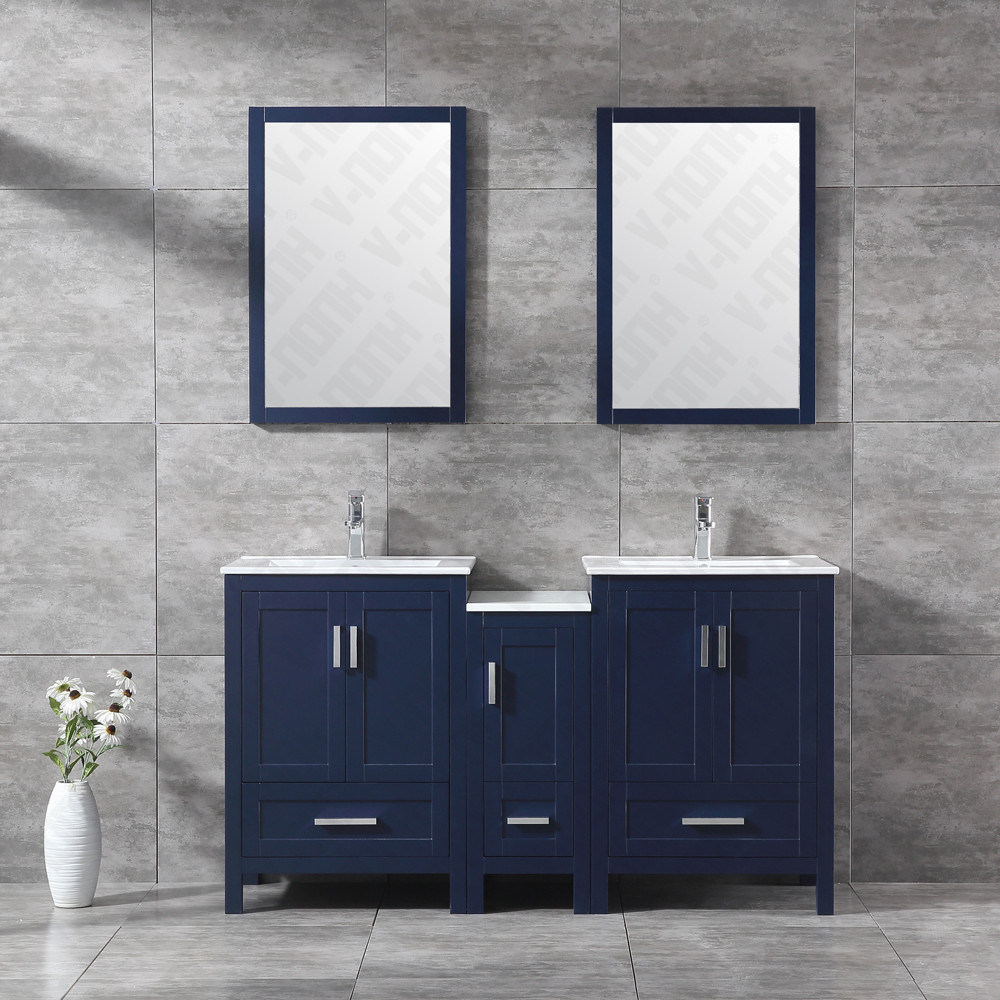 china 60 inch wood bathroom vanity with