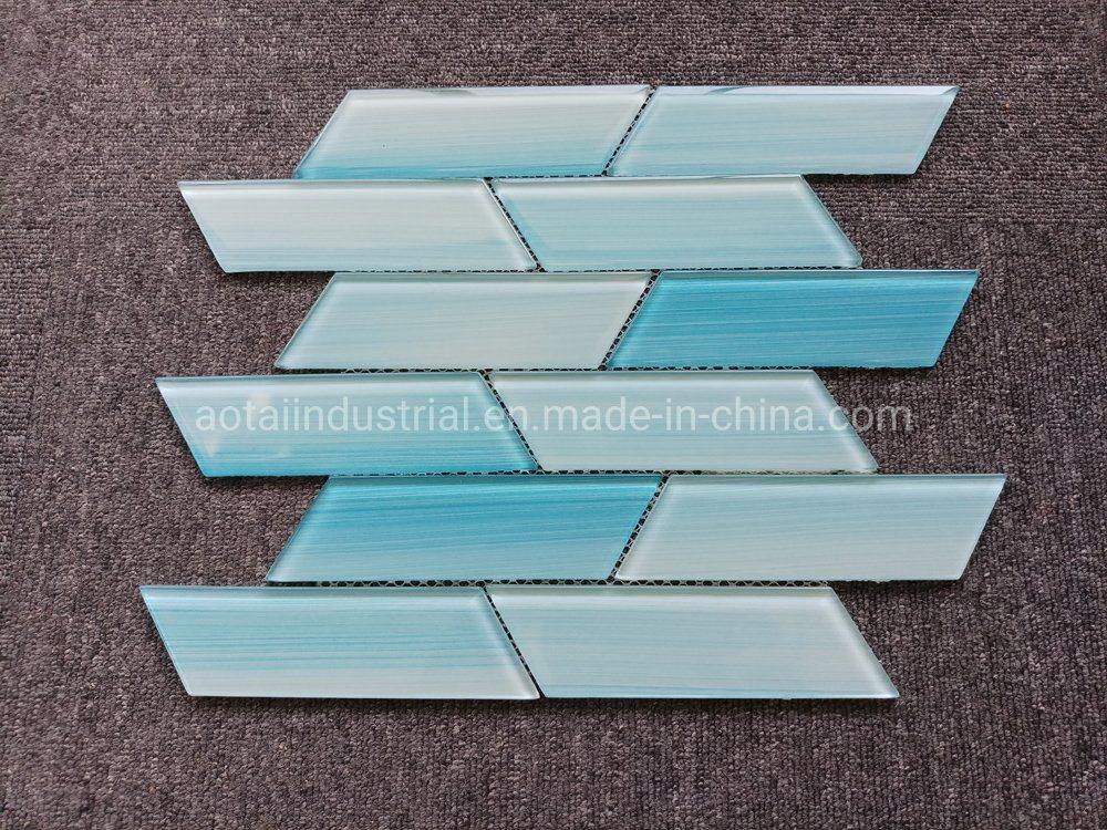 hot item hot popular style light blue glass mosaic for glass subway tile backsplash