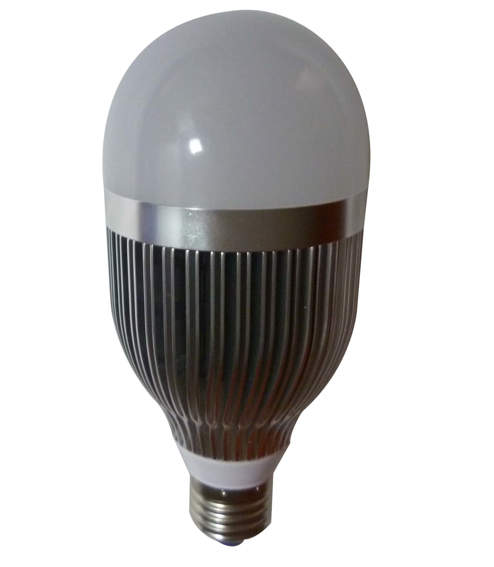 China E27 10w Silver High Heat Dissipation Led Bulb Lamp