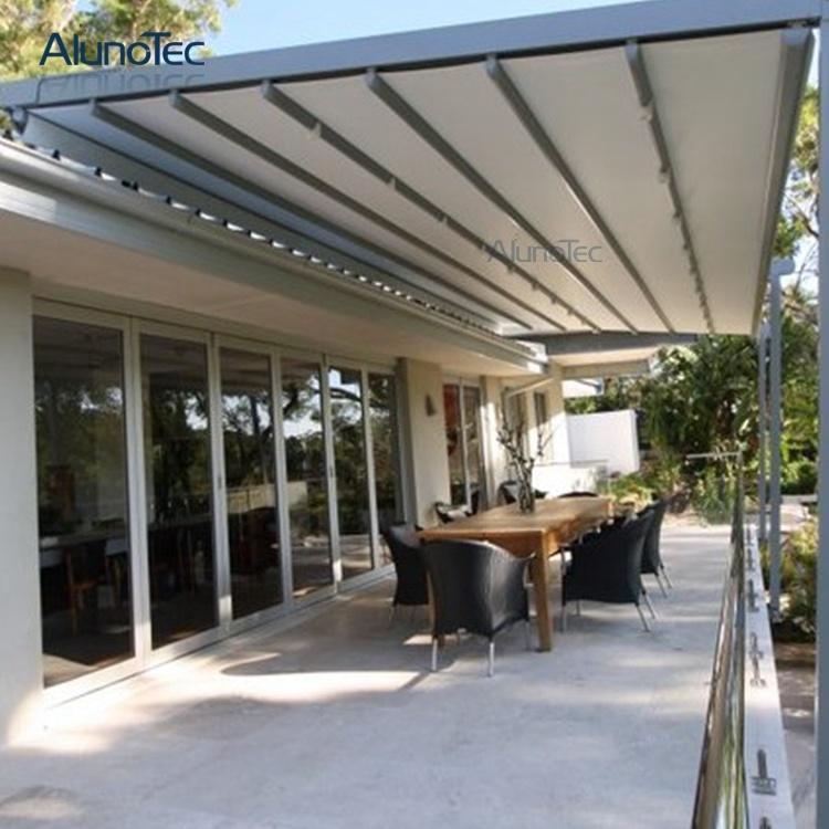 china deck roof aluminum retractable