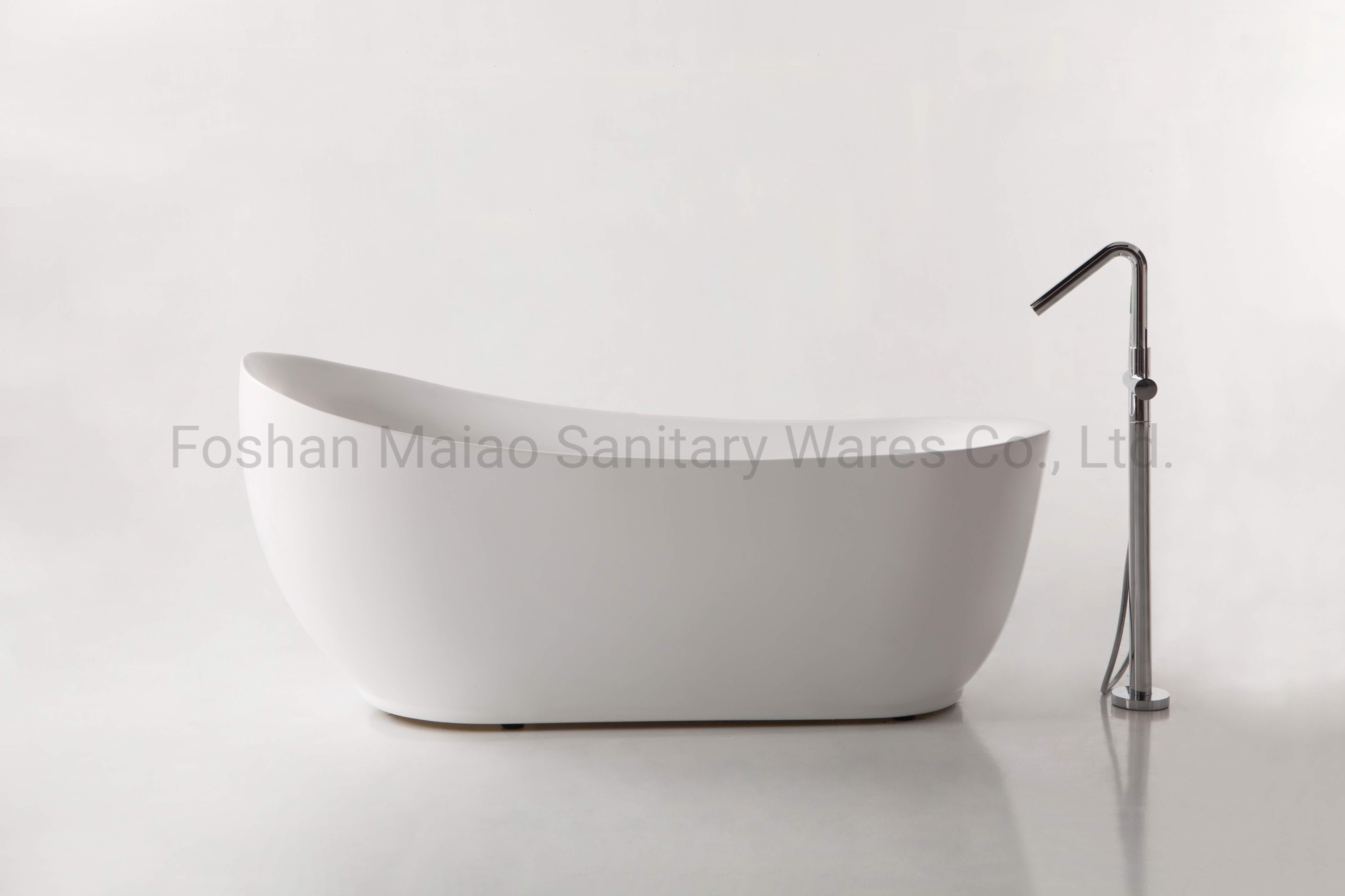 China Popular Antique Style Sanitary Ware Acrylic Freestanding Bathtub Ba 8208 China Freestanding Bathtub Bathtub
