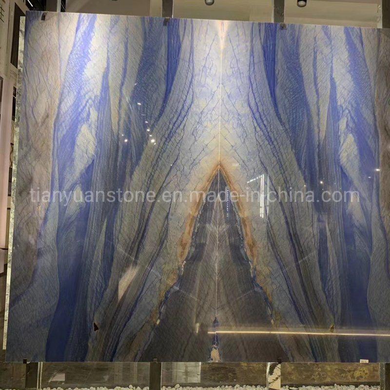 china azul imperial granite slab for