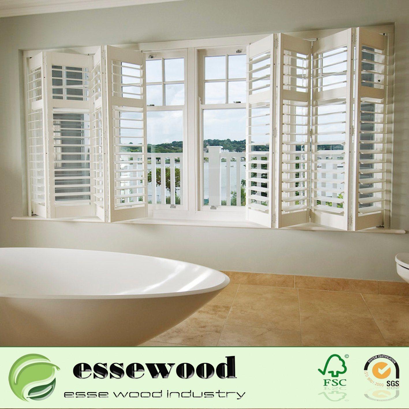 Hot Item Adjustable Australia Indoor Wood Basswood Plantation Window Shutter