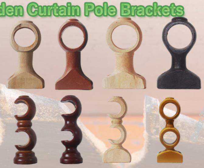 china double curtain rod brackets
