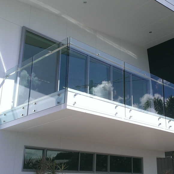 China Modern Terrace Railing Designs Side Mounted Glass Stair   Staircase Side Window Designs   Outside Window Frame   Architecture   Small Space   Two Story   Landing