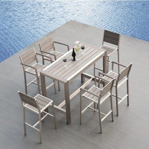 hot item outdoor bar furniture set bar table and chairs outdoor patio pub furniture aluminum bistro chair rattan bar chairs and table set