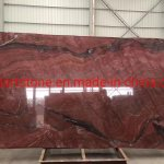 China Luxury Stone Ruby Red Gaya Red Granite Marble Slab For Wall And Floor China Marble Slab Marble