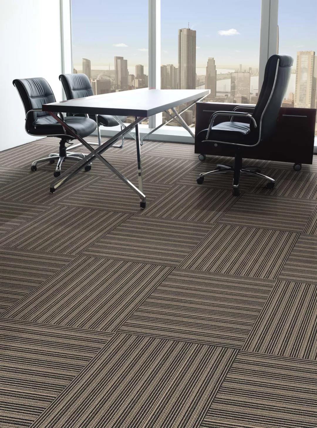 hot item plain pattern fireproof office pvc backing carpet tiles tufted nylon carpet tiles commercial floor carpet tile