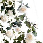 Floral Decor Artificial Flowers Rose Ivy Vine Wedding Decor Real Touch Silk Flower Garland On Home Garden Mbln Org