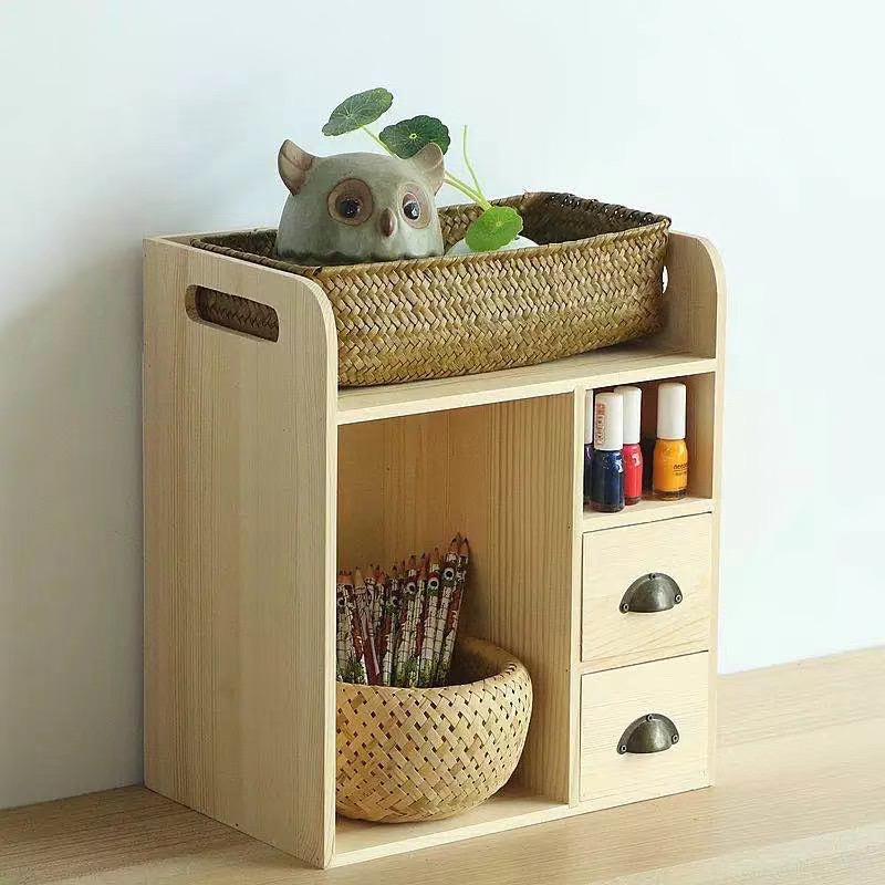 hot item mini countertop wooden book rack for desk storage multipurpose bookshelf