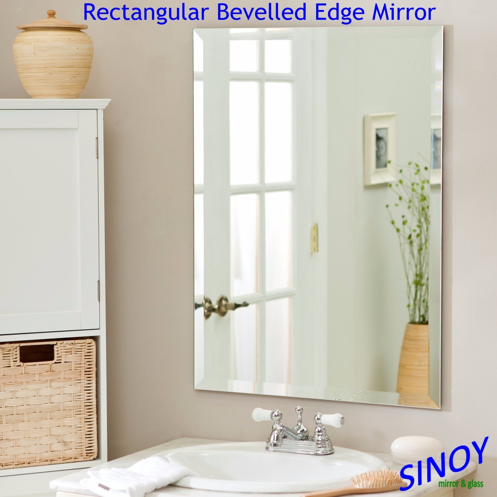 China Waterproof Frameless Bathroom Mirror Made Of Polished Edge Silver Mirror Glass Can Be In Square Round Oval Or Irregular Shapes China Bathroom Mirror Silver Mirror Glass