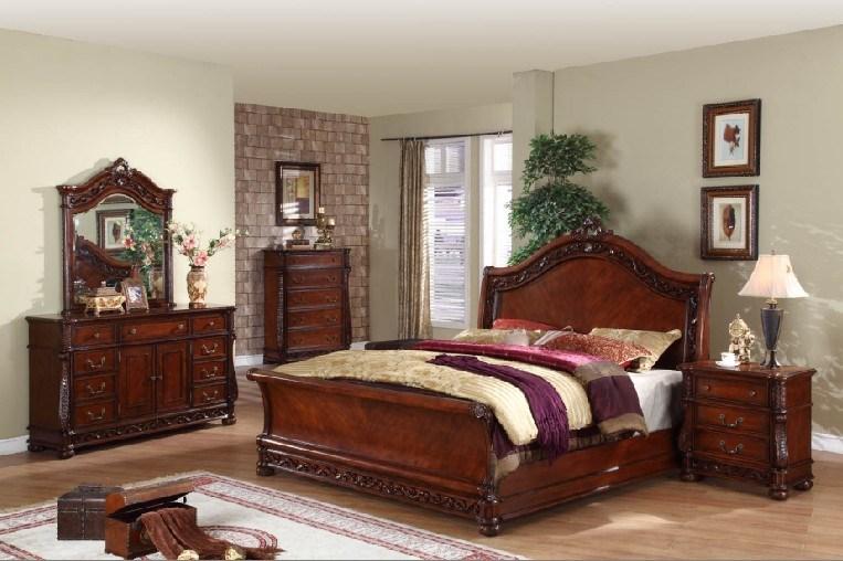 hot item antique solid wood bedroom sets hdb005