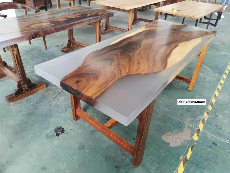 hot item live edge epoxy resin slab table natural edge slab table one piece resin wood slab single piece resin wood table