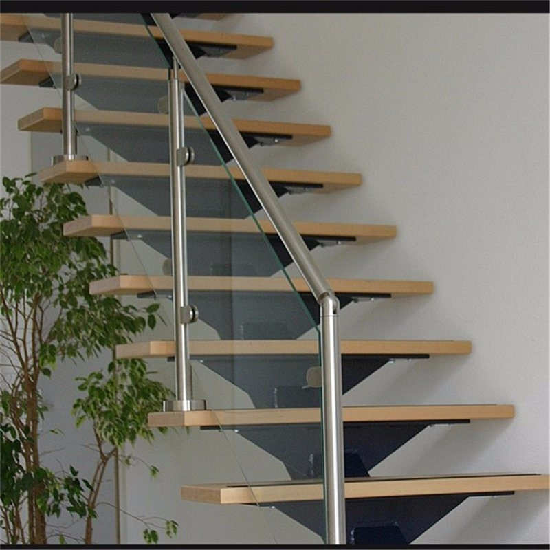China Indoor Stainless Steel Glass Stair Railing Stainless Steel | Stainless Steel And Glass Staircase | Residential | New Fashion Glass | Architectural Glass | Galvanized Steel | High End Glass
