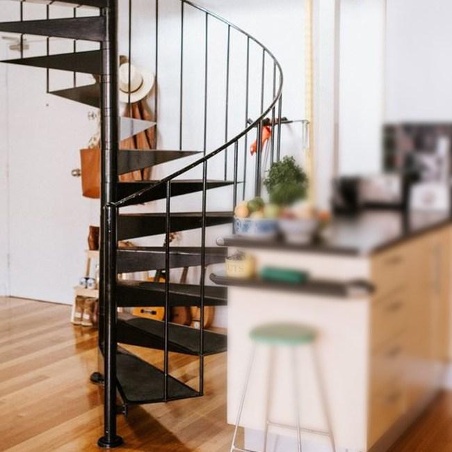 China Modern Outdoor Steel Staircase Design Galvanized Spiral | Outdoor Steel Staircase Design | Steel Framed Exterior | Indoor | Vertical Wire Balustrade | Prefabricated Steel | Stair Handrail