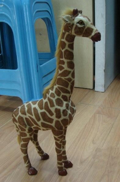 China Furry Giraffe Decorations Simulative Animals China