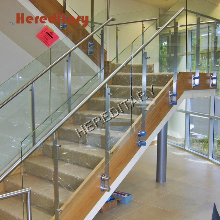 New Design Stainless Steel Glass Railing Wall Mounted Stair Column | Stainless Steel And Glass Staircase | Residential | New Fashion Glass | Architectural Glass | Galvanized Steel | High End Glass