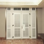 China White Pvc Full Height French Door Plantation Shutters