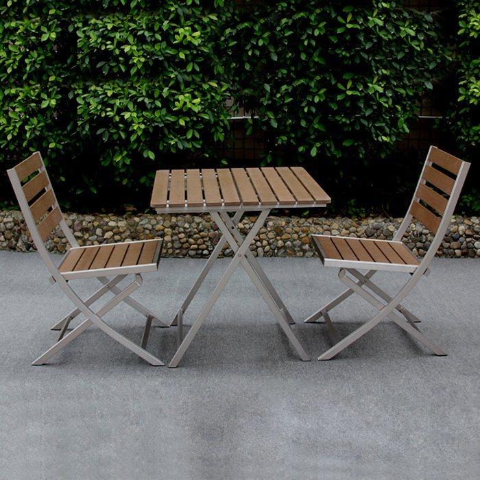 china aluminum chair table set