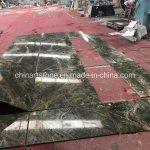 China Rainforest Green Marble Slab Tile For Wall Decoration China Slab Floor Tile