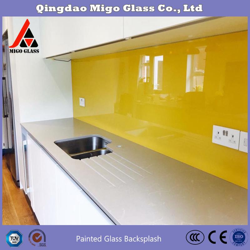 hot item customized painted glass splashback 4 10mm painted glass kitchen splashback tempered glass