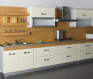 Mdf Kitchen Cabinet White Modern Design