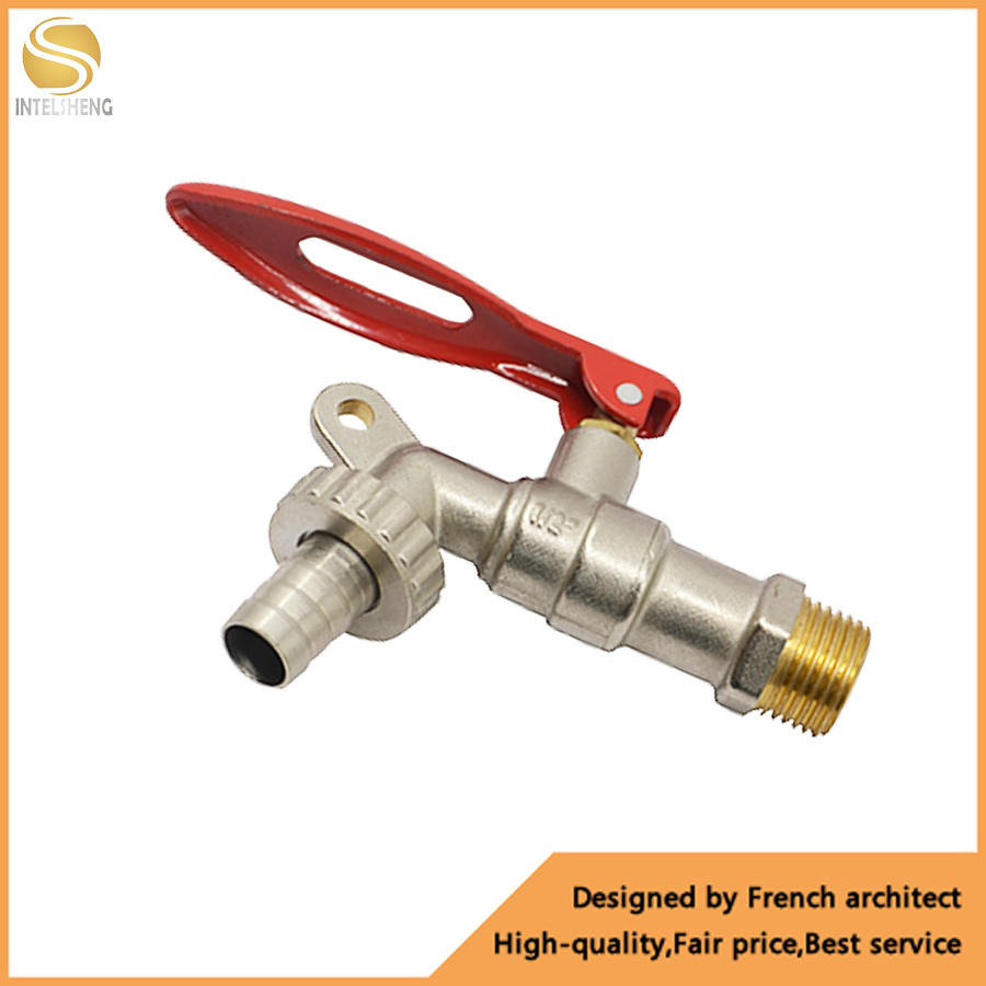 4 inch pex brass ball bibcock tap with
