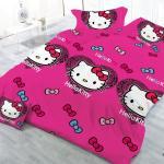 China Wholesale Market Rotary Cartoon Print 3d Hello Kitty Bedding Set China Bedding Set And Cartoon Bedding Price
