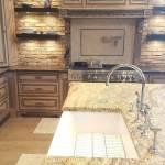 China Natural Yellow River Granite Countertops For Kitchen China Granite Countertop Granite
