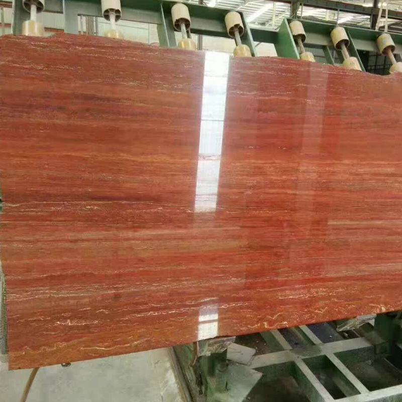 china red travertine cut to size tile