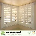 Hot Item White Primed Paulownia Or Basswood Wood Shutters For Home Corner Window