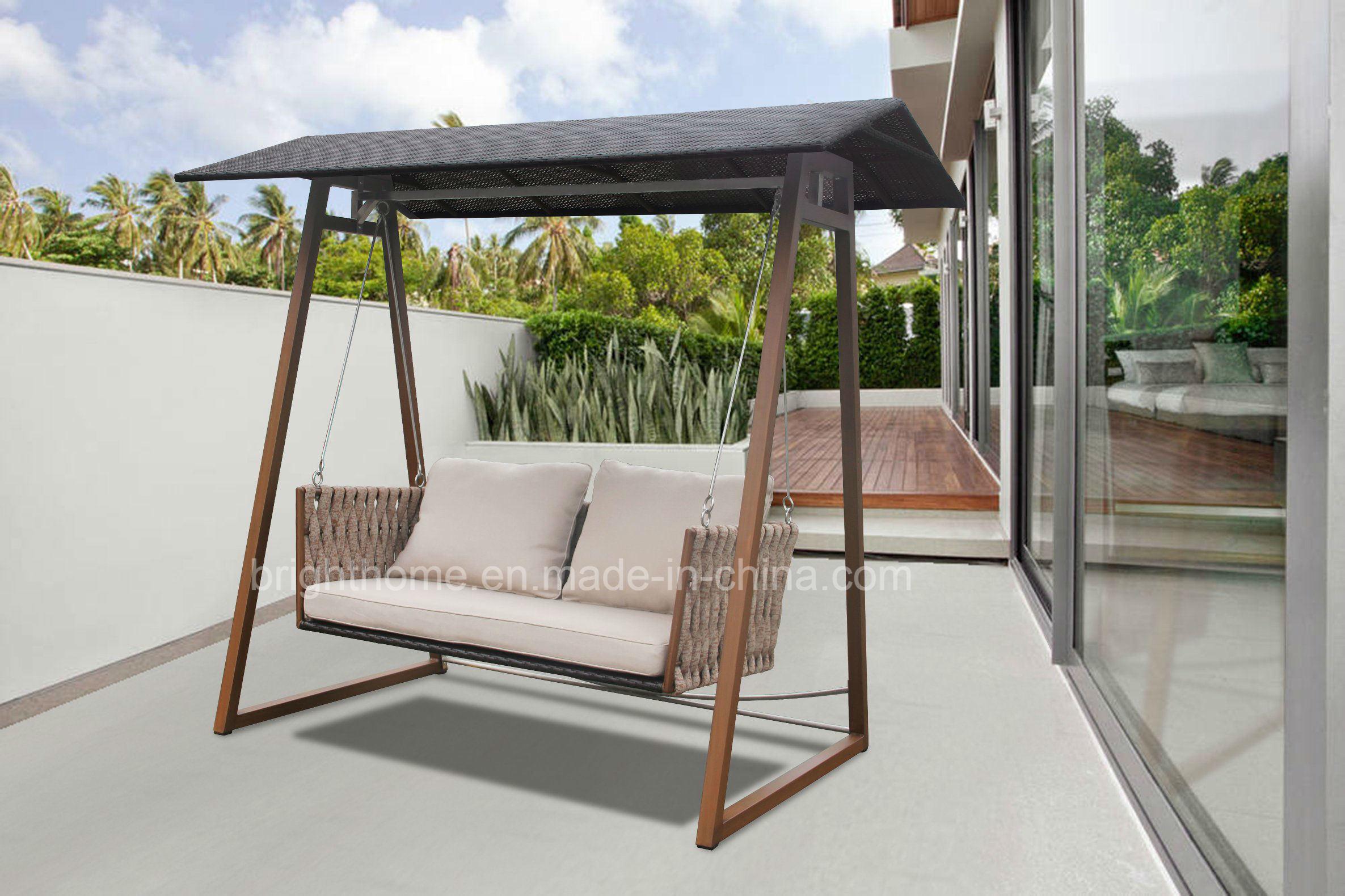 China Outdoor Leisure Textilene Rope Garden Hanging Swing Patio Furniture Hanging Chair Bp 617g China Swing Garden Swing