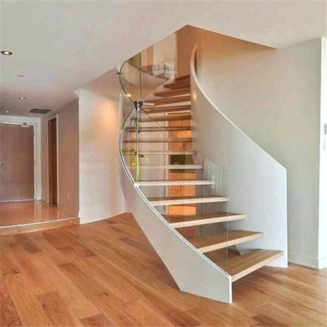 China Modern Contemporary Curved Staircase Interior Steel Stairs   Round Staircase Designs Interior   Classic   Wooden   Elegant   Showroom   Round Shape Round