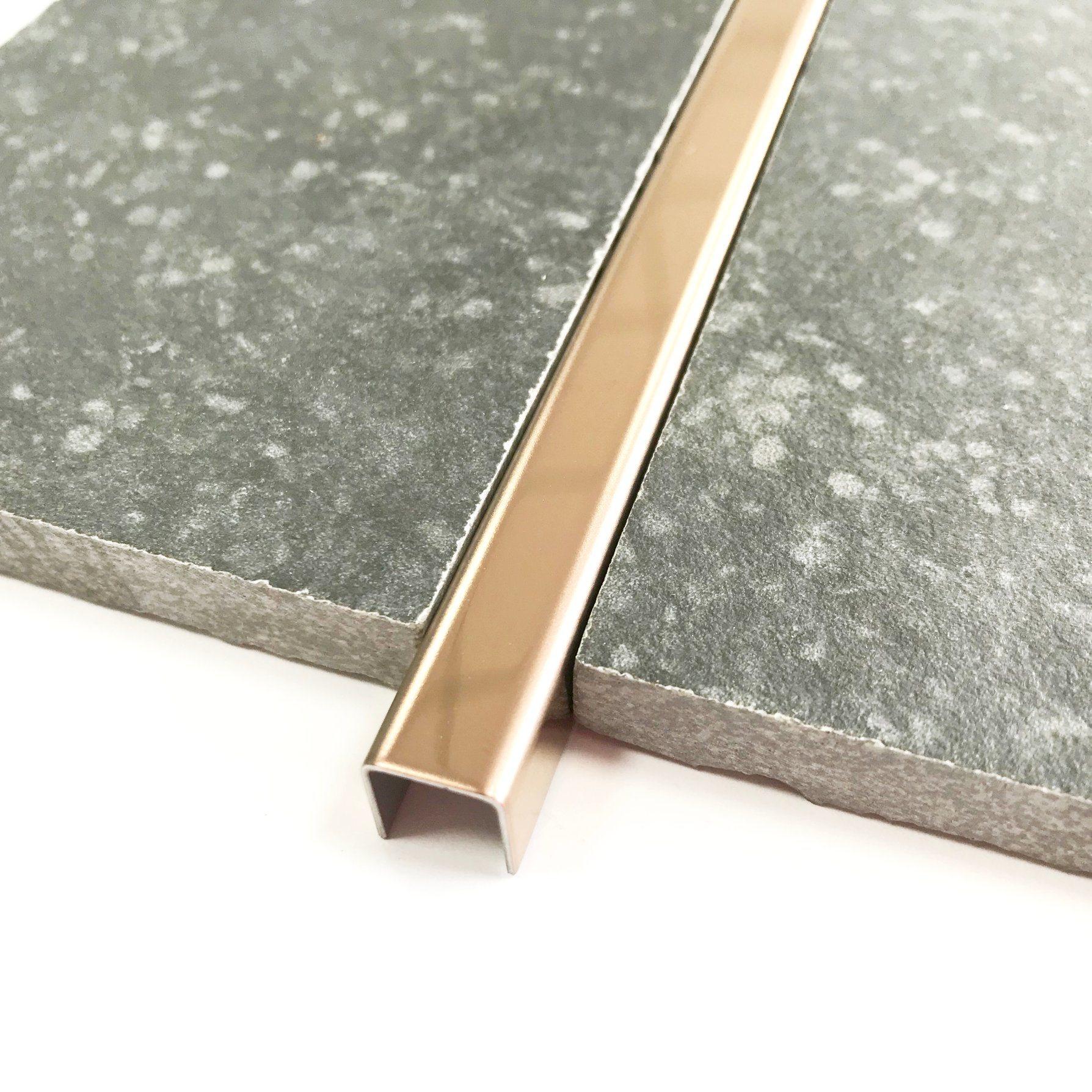 hot item stainless steel sus304 u type brushed gold corner tile trim