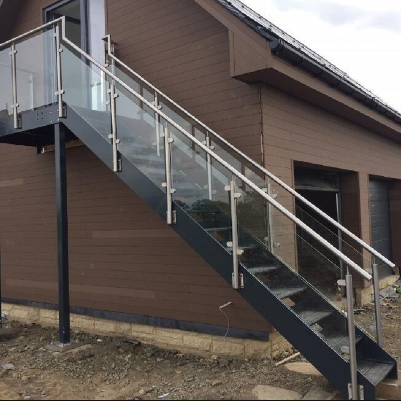 China Outdoor Glass Railing Ss Handrail Steel Grating Stair Tread | Modern Stairs Design Outdoor | Ultra Modern | Deck | Contemporary | Railing | Spiral